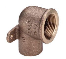 """Настенная водорозетка Viega d15х1/2"""" с тремя точками крепления, бронза, фото"""