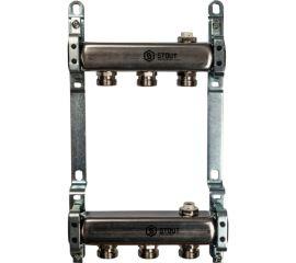 Коллектор из нержавеющей стали для радиаторной разводки 3 вых.