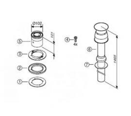 Коаксиальная труба для вертикального вывода AZ 396, BOSCH