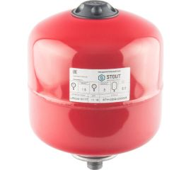 Расширительный бак STOUT на отопление 5 л. (цвет красный)
