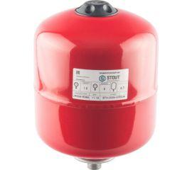 Расширительный бак STOUT на отопление 8 л. (цвет красный