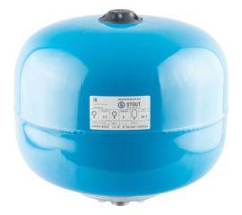 Расширительный бак STOUT, гидроаккумулятор 24 л. вертикальный (цвет синий)