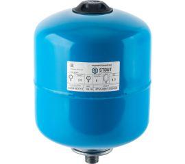 Расширительный бак STOUT, гидроаккумулятор 8 л. вертикальный (цвет синий)