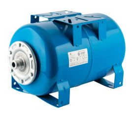 Расширительный бак, гидроаккумулятор 20 л. горизонтальный (цвет синий)