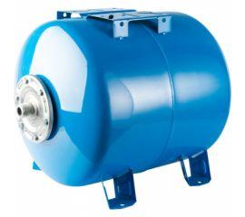 Расширительный бак STOUT, гидроаккумулятор 80 л. горизонтальный (цвет синий)