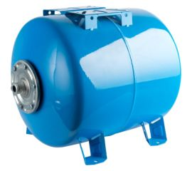 Расширительный бак STOUT, гидроаккумулятор 100 л. горизонтальный (цвет синий)