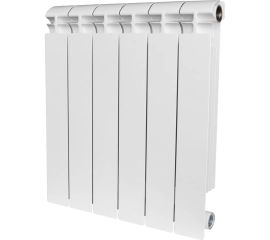 Секций радиатор Stout ALPHA 500 биметаллический боковое подключение