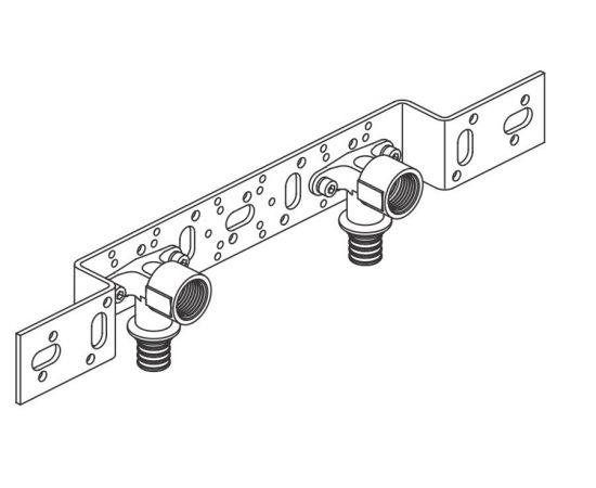 Монтажный блок для скрытого монтажа короткого O 75/150