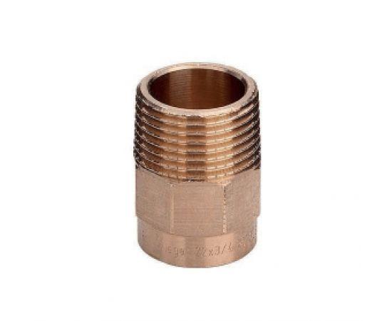 """Муфта комбинированная с наружной резьбой Viega d54х2"""", бронза, фото"""