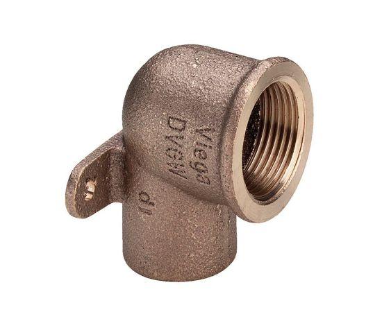 """Настенная водорозетка Viega d12х1/2"""" с тремя точками крепления, бронза, фото"""