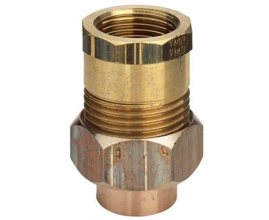 """Соединение разъемное с коническим уплотнением и внутренней резьбой Viega d15х1/2"""", бронза-латунь, фото"""