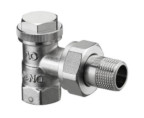 "Oventrop Combi 3 вентиль на обр. подводку Ду15, 1/2"", PN10, угловой, бронза/латунь, никелир."